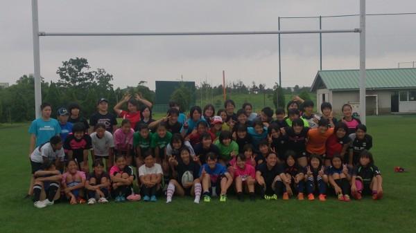 女子ラグビー3地区サマーキャンプ