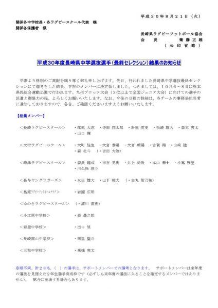 H30秋選抜メンバーお知らせのサムネイル